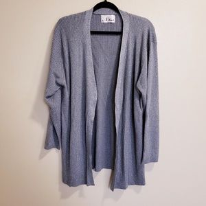 N Touch Silver Sparkling Grey Open Front Cardigan